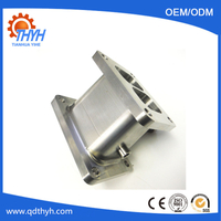 Customized CNC Machining Twin Inlet Stainless Steel Manifold Adaptor